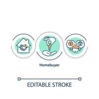 Homebuyer concept icon vector