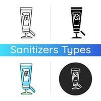 Gel hand sanitizer icon