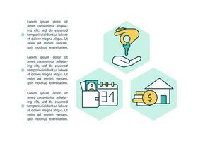 alquiler de icono de concepto de propiedad con texto