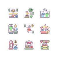 venta conjunto de iconos de colores rgb