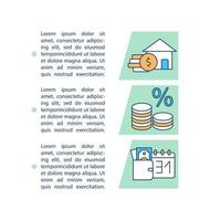Icono de concepto de pagos de préstamo de casa con texto
