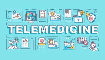 banner de conceptos de palabra de telemedicina