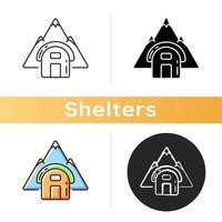 icono de refugio vivac