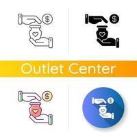 Handicraft market icon vector