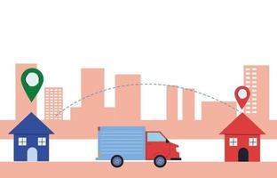 package delivery from door-to-door vector