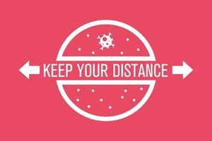 mantén la distancia para detener el coronavirus, banner vector