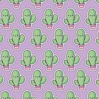 pattern with cactus tropical, patch style vector