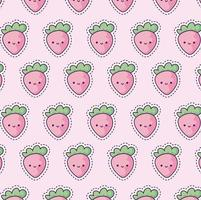 pattern with strawberries, patch style vector