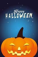 Halloween orange pumpkin cartoon vector design