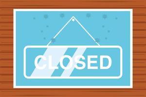 closed sign during coronavirus quarantine vector