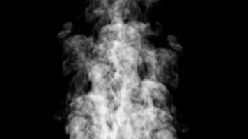 White Smoke Moving in Slow-Motion