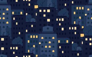 City Seamless Pattern vector