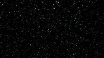 en el espacio mientras se teletransporta a alta velocidad
