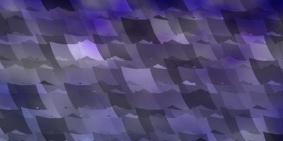 Fondo de vector púrpura claro con hexágonos.