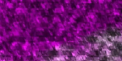 patrón de vector violeta claro, rosa con líneas, triángulos.