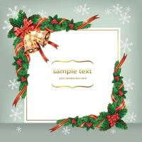 Christmas card decoration template background. Vector illustration.