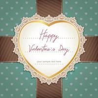 diseño de tarjeta de boda o día de san valentín. ilustración vectorial.