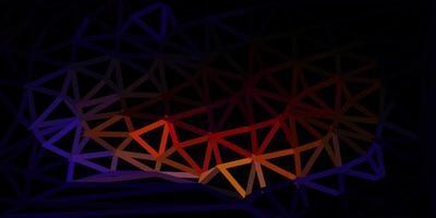 Dark multicolor vector triangle mosaic background.