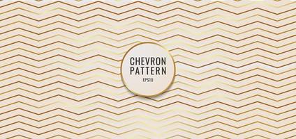 Fondo abstracto chevron patrón oro metálico. vector