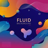 fondo abstracto forma fluida vibrante color degradado