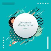 Abstract geometric circles pattern composition rounded line shapes diagonal transition background.