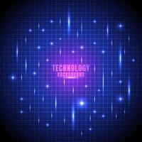 Abstract technology futuristic glow line grid vector