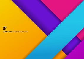 Abstract background geometric stripes colorful overlapping layer with shadow vector