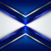 concepto de tecnología abstracta flechas de ángulo azul metálico vector