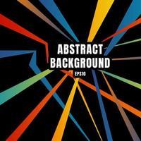 Superposición de línea diagonal colorida abstracta sobre fondo negro estilo retro. vector