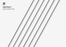 Fondo abstracto rayas blancas líneas diagonales con sombra vector