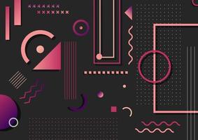 patrón de elementos de forma geométrica rosa y púrpura de moda abstracta vector