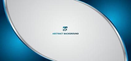 banner abstracto plantilla web curva azul de dimensión 3d