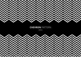 patrón de chevron blanco y negro con espacio para su texto. vector
