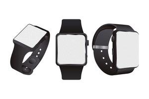 Plain smartwatch mock-up devices vector