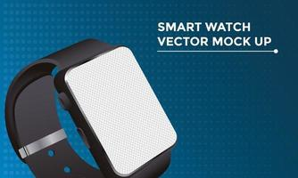 smartwatch mockup device in blue background vector