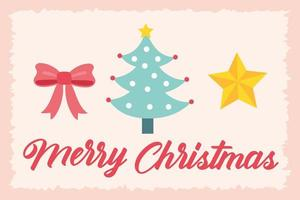 tarjeta de celebración de feliz navidad con pino
