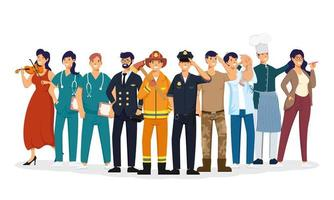 group of workers characters vector