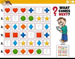 fill the pattern educational activity for children vector