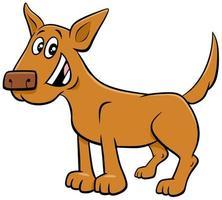 Perro de dibujos animados o cachorro personaje animal divertido