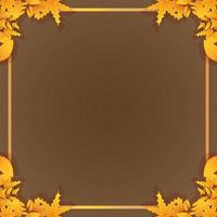 Autumn leaves and foliage decorative frame vector