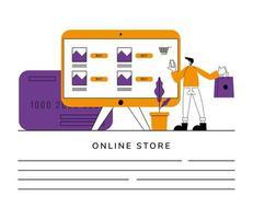 banner de tienda online vector