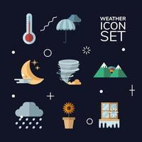 weather symbol collection vector design