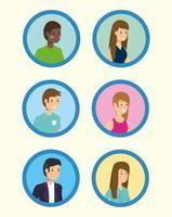 People avatar set vector