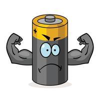 dibujos animados de super batería vector
