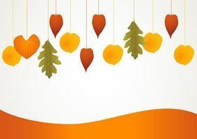 Autumn decorative background vector