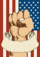 espíritu de una nación nosotros diseño de puño