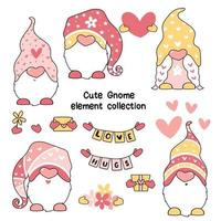 Cute Valentine Gnome Set