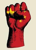 espíritu de una nación china diseño de puño vector