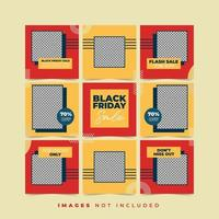 Black Friday Social Media Puzzle Post Collections vector