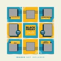 Black Friday Fashion Girl Social Media Puzzle vector